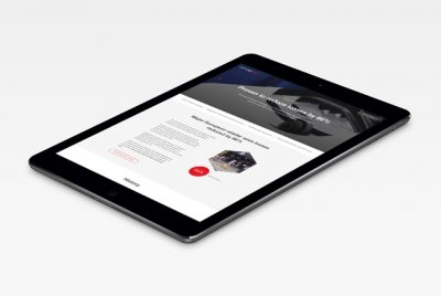 The Concept Tag website on an iPad tablet